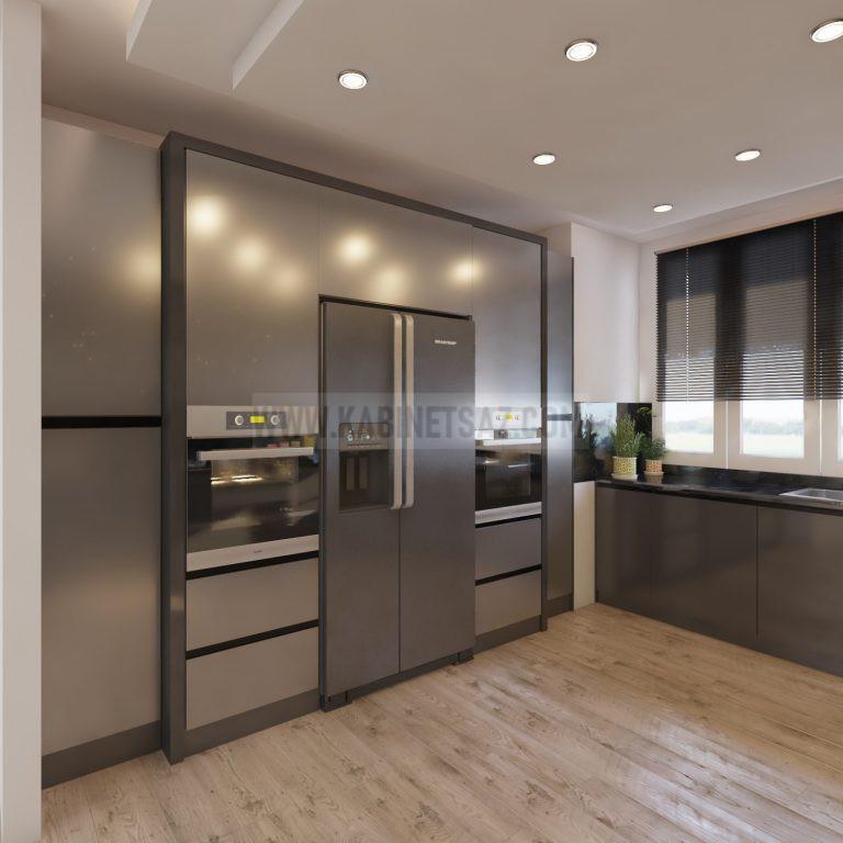 کابینت آشپزخانه های گلاس طوسی