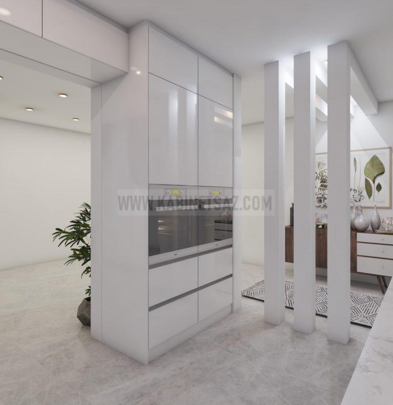 کابینت هایگلاس دیواری سفید